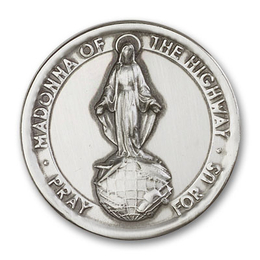 Our Lady of the Highway<br>1065V - 1 7/8 x 1 7/8<br>Visor Clip