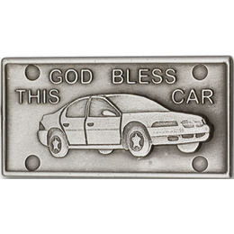 God Bless This Car<br>1076V - 1 x 1 7/8<br>Visor Clip