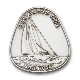 God Bless This Sailboat<br>Visor Clip - 1082V
