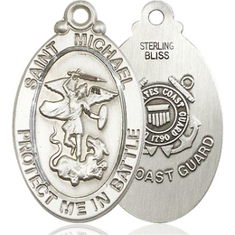 St Michael Guardian Angel Coast Guard<br>1171--3 - 1 1/8 X 1 1/4