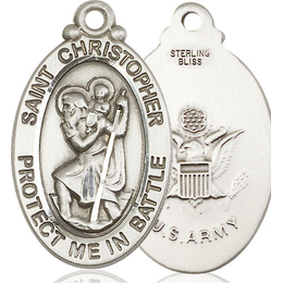 St Christopher Army<br>1175--2 - 1 1/4 x 1 1/4