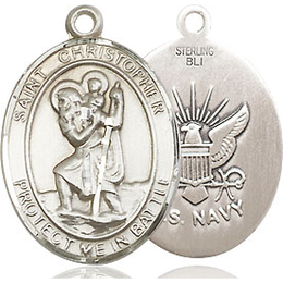 St Christopher Navy<br>1176--6 - 3/4 x 1