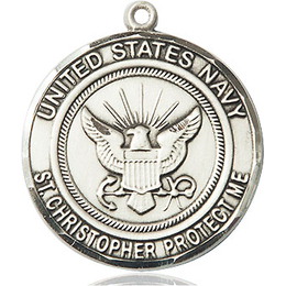 Navy St Christopher<br>1182--6 - 1 x 7/8