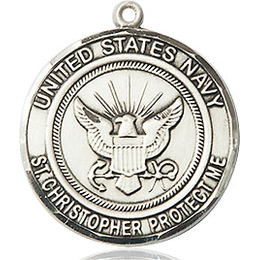 Navy St Christopher<br>1183--6 - 3/4 x 3/4