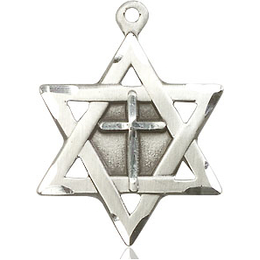 Star of David w/ Cross<br>1210Y - 7/8 x 5/8