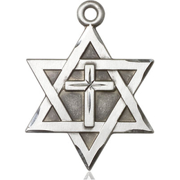 Star of David w/ Cross<br>1212Y - 1 1/4 x 7/8
