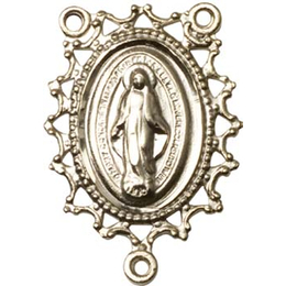 Miraculous<br>1619CTR - 1 x 3/4<br>Rosary Center