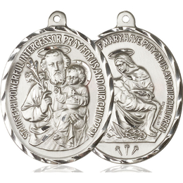Saint Joseph<br>Christian Mother<br>32-106/149 - 1 1/2 x 1 7/8
