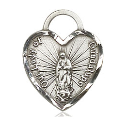 Our Lady of Guadalupe Heart<br>3408 - 5/8 x 1/2