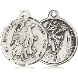 Saint Raphael the Archangel<br>Saint Christopher<br>36-123/179 - 7/8 x 7/8