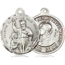 Saint Francis de Sales<br>Sacred Heart of Jesus<br>36-184/117 - 7/8 x 7/8