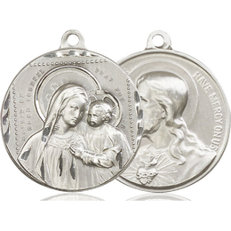 Our Lady of Good Counsel<br>Sacred Heart of Jesus<br>39-118/117 - 1 1/8 x 1 1/4