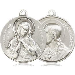 Blessed Virgin<br>Sacred Heart of Jesus<br>39-164/117 - 1 1/8 x 1 1/4