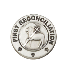 First Reconciliation / Penance<br>4008L - 5/8 x 1/2<br>Lapel Pin