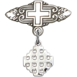 Jerusalem Cross<br>Baby Badge - 4118/0731