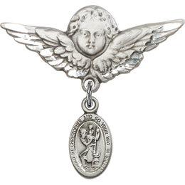 St Christopher<br>Baby Badge - 4121C/0733