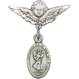 St Christopher<br>Baby Badge - 4121EC/0735
