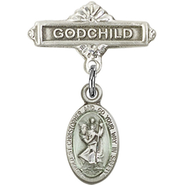St Christopher<br>Baby Badge - 4121EC/0736