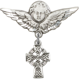 Celtic Cross<br>Baby Badge - 4133/0733