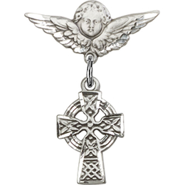 Celtic Cross<br>Baby Badge - 4133/0735