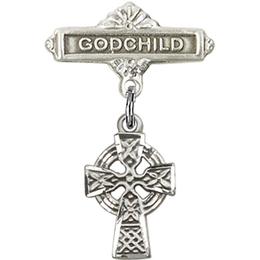Celtic Cross<br>Baby Badge - 4133/0736