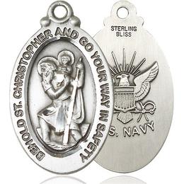 St Christopher Navy<br>4145--6 - 1 1/8 x 3/4