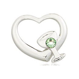 Heart / Chalice<br>4205 - 1/2 x 1/2<br>Available in 12 colors