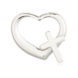 Heart Cross<br>4207 - 1/2 x 1/2