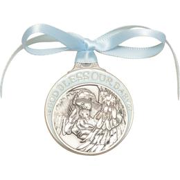 Baby w/Angel Crib Medal<br>4300 - 2 x 1 3/4<br>Crib Medal