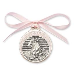 Baby in Manger Crib Medal