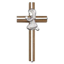Praying Girl<br>5070 - 6 x 3<br>Wall Cross