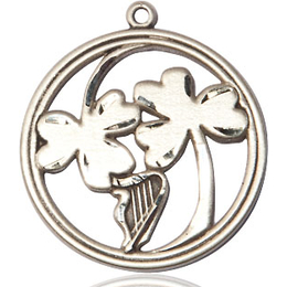 Irish Shamrock Harp<br>5104 - 7/8 X 7/8