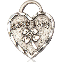 Good Luck Shamrock Heart<br>5105 - 3/4 X 5/8