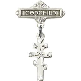 Greek Orthadox Cross<br>Baby Badge - 5654/0736