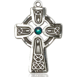 Celtic Cross w/ Emerald Stone<br>5689 - 1 x 5/8
