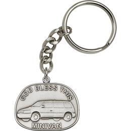 God Bless This Mini-Van<br>5881SRC - 1 1/4 x 1 3/8<br>KeyChain