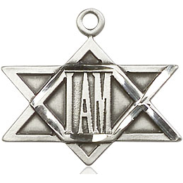 I Am / Star of David<br>5917 - 3/4 x 3/4