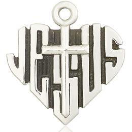 Heart of Jesus w/Cross<br>6044 - 1 1/8 x 1 1/8