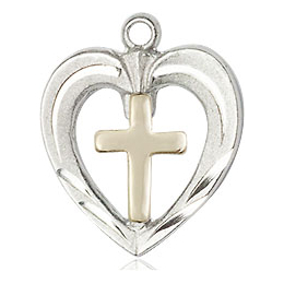 Heart / Cross<br>6278 - 3/4 x 5/8