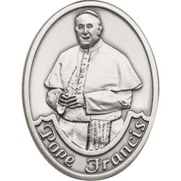 Pope Francis<br>6751V - 1 1/2 x 1 1/4<br>Visor Clip