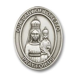 Our Lady of Loretto<br>6782V - 1 5/8 x 1 1/4<br>Visor Clip