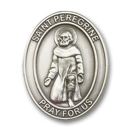 Saint Peregrine<br>6788V - 1 5/8 x 1 1/4<br>Visor Clip