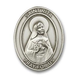 Saint Rita of Cascia<br>6794V - 1 5/8 x 1 1/4<br>Visor Clip