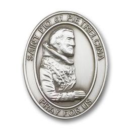 Saint Pio of Pietrelcina<br>6825V - 1 5/8 x 1 1/4<br>Visor Clip