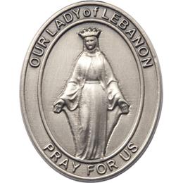 Our Lady of Lebanon<br>6929V - 1 1/2 x 1 1/4<br>Visor Clip