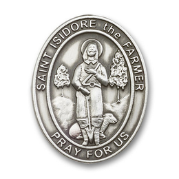 St Isidore the Farmer<br>Visor Clip - 6976V