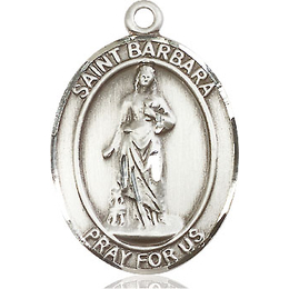 St Barbara<br>Oval Patron Saint Series<br>Available in 3 Sizes
