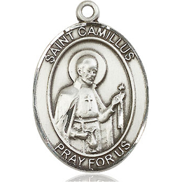St Camillus of Lellis<br>Oval Patron Saint Series<br>Available in 3 Sizes