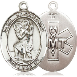 St Christopher EMT<br>Oval Patron Saint Series<br>Available in 2 Sizes