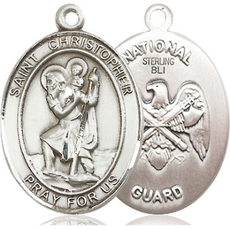 St Christopher National Guard<br>Oval Patron Saint Series<br>Available in 2 Sizes